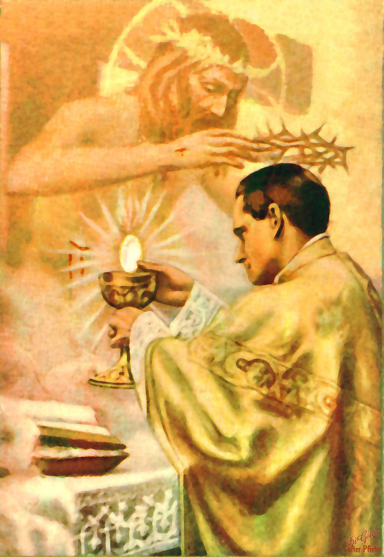 Resultado de imagem para A Cruz, o Padre e a Missa